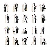 set of mimes isolated on white background