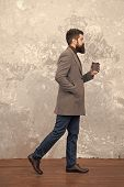 Brutal Bearded Hipster In Denim Wear. Trendy Man With Beard. Modern Life. Male Fashion Model. Mature poster