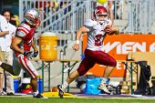 VIENNA, AUSTRIA - JUNE 5 RB Kyle Kovac (#22 Rose Hulman) runs with the ball on June 5, 2011 in Vienn