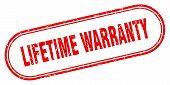 Lifetime Warranty Stamp. Lifetime Warranty Square Grunge Sign. Lifetime Warranty poster