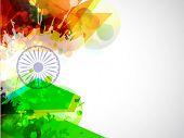 Criativa bandeira indiana cor de fundo com onda, brilho e florais para o dia da independência, dia da República