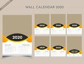 Calendar 2020 Templates In Vecto Design Illustration 5 poster