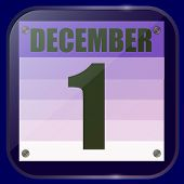 December 1 Icon. For Planning Important Day. December First. December Icon. Banner For Holidays And  poster