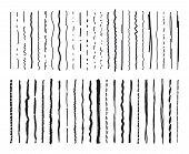 Sketch Lines. Pencil Marker Textured Doodle Freehand Line Strokes Chalk Scribble Black Ink Line Isol poster