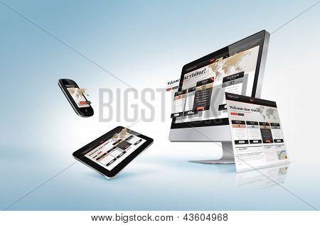 Web design concept poster