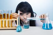 Attractive Researcher With Chemicals
