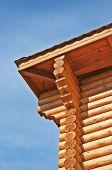 Eaves Of New Log Cottage