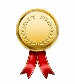 Award Medal Rosette Label