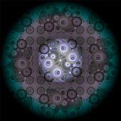 Mandala erstellt von Fraktale, Kunst