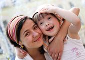 stock photo of little sister  - Happy family moments  - JPG