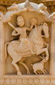 Maharaja Image In Bada Bagh Ruins, India