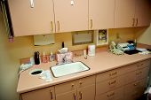 Dentist Examine Room Sink Area