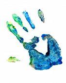 Finger Paint Hand Art