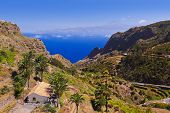 stock photo of canary-islands  - Road in La Gomera island  - JPG