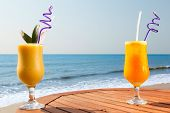 pic of passion fruit  - cocktail of pineapple - JPG