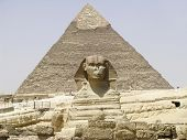 The Sphinx and Chephren Pyramid Gizeh Egypt