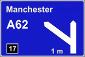 Motorway 1 mile advance sign