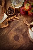 foto of christmas spices  - Baking concept background - JPG
