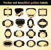 Vector Set Beautiful Golden Labels.eps
