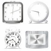 Relógio de cromo em branco Fon.