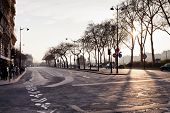 Quay Branly In Paris On Sunset