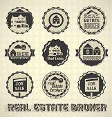 Vector Set: Vintage Real Estate Labels