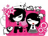 foto of emo-boy  - Design for the emo styles using picnk and black - JPG