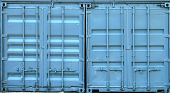 Blue Metal Containers Doors Texture