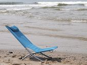 Beach Chair On The Beach
