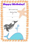 Children's Birthday Party Invitation - Underwater Theme