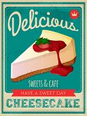 vector vintage styled cheesecake poster