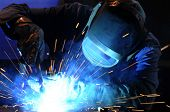 stock photo of welding  - industrial welding - JPG