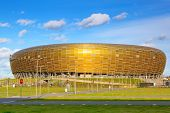 GDANSK, POLAND - 29 OCT 2013: PGE Arena stadium for 43,615 spectators on 29 October 2013. PGE Arena