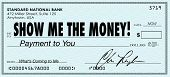 stock photo of paycheck  - Show Me the Money Check Earnings Payday - JPG