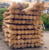 Wood Poles. Stack