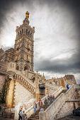 Notre Dame De La Garde Cathedral, Marseille, Hdr Image