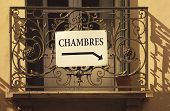 Chambres Or Rooms To Rent Sign, France