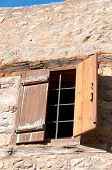 Old Window With Wooden Windowpane