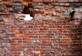 Brick Wall Texture With Hole