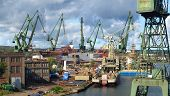 Gdansk Shipyard In A Panorama