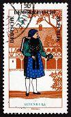 Postage Stamp Gdr 1966 Woman From Altenburg, Regional Costume