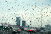 Traffic Rainy Day poster