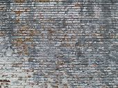 Weathered Painted Brick Wall poster