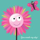 picture of thank you card  - Illustration Vector You Made My Day Card - JPG