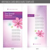 stock photo of obgyn  - 4x9 Rack Card Brochure Template  - JPG