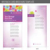 4 x 9 Rack-Karte Broschüre translucent vektor