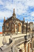 Beautifully preserved and restored monument of medieval architecture. Palace of the Knights Templar in Tomar. Portugal