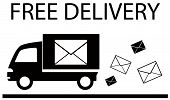 truck and envelope - delivery symbol