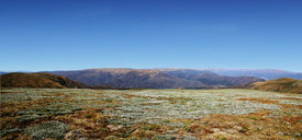 stock photo of bogong  - mounatin panorama view over mt bogong high plains - JPG