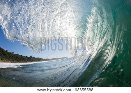 Wave Crashing Water Swimming poster